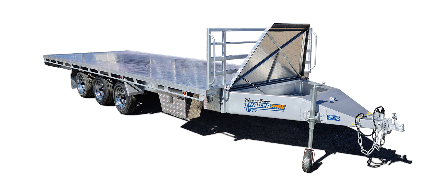 large flat top trailer for hire